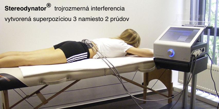 Komfortný elektroterapeutický prístroj
